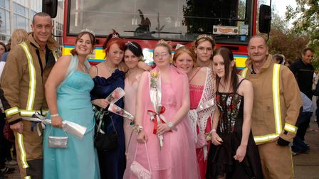 Students from Litcham High arrive in different modes of transport for their end of year prom.Pictu