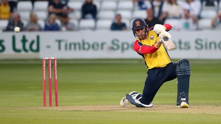 Dan Lawrence in batting action for Essex againstGlamorgan in theVitality Blast T20