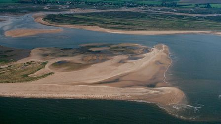 Scolt Head Island from the air, 1999. Picture: Mike Page