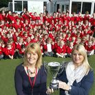 Nicola Rowland, head teacher of Corton Primary School (left) pictured with Veronica Reynolds from In