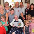 Eva Jenner celebrates her 100th birthday at East View residential care home with her family