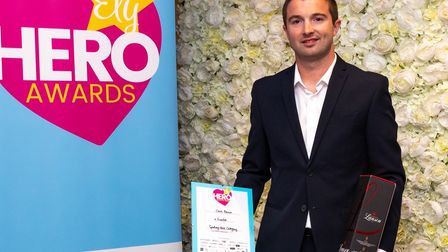 Chris Brownwas a finalist in the sporting hero category of the 2021 Ely Hero Awards