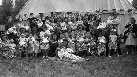 EADT NOSTALGIAPic Ref DK.There was a large entry in the mother and baby competition at the