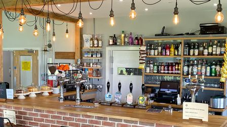 The bar at The Grumpy Goat in Bardwell