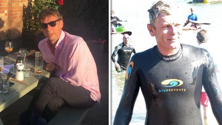 Friends Nick Roberts and Richard Bland will be swimming the Suffolk estuaries as part of a challenge