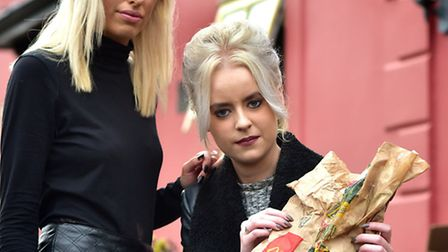 Millie Fulcher, right, found a beetle in her McDonald's meal which was bought by her work colleague