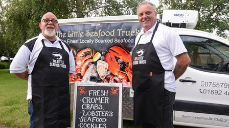 The Little Seafood Truck, owned by Chris Baker and Mark Overton,is delivering to Norfolk towns and villages.