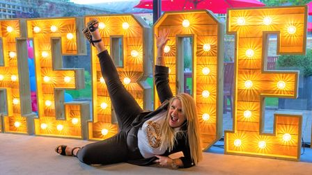 The lit-up sign proved a hit with guests at the 2021 Ely Hero Awards