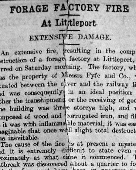 Littleport Forage Factory Fire - July 2 1906