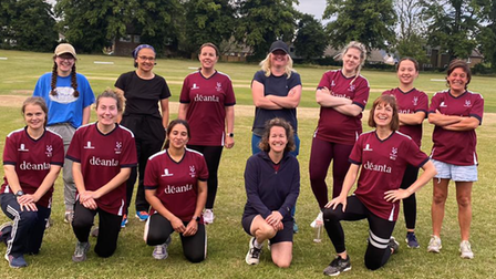 City of Ely CC women's team played first game vs King's Ely