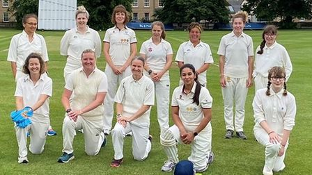 City of Ely CC women's team first game vs King's Ely