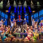 Killian Donnelly - Kinky Boots cast, with star and Sheringham panto writer Killian Donnelly centre r