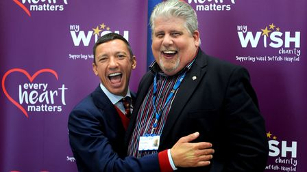 """Frankie Dettori launching the West Suffolk Hospital My WiSH Charity """"Every Heart Counts Appeal"""" with"""