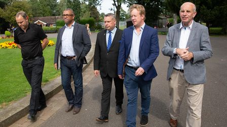 Former Police and Crime Commissioner Jason Ablewhite meets James Cleverly and Conservative MP Candid