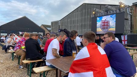 Fans have packed out pubs across Norfolk, and the fan zone in Sprowston.