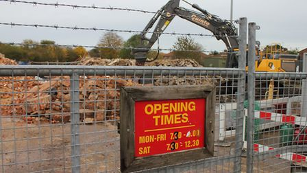 Thaxters of Holt is reduced to rubble to make way for a new budget supermarket. Picture: KAREN BETHE