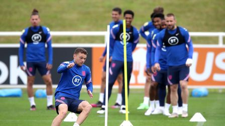 England's Kieran Trippier during a training session at St George's Park, Burton upon Trent. Picture