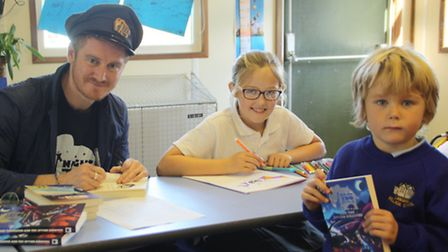 Night Zoo visited and book signing at Langham School, where pupil Evie Green has had a story publish