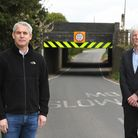 MP Steve Barclay (left) and Cllr John Gowing pay a fact finding visit to Stonea bridge near Manea.