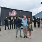 Tim Wood along with his wife Rachel and son Charlie, meet the team at NARS