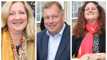 Power sharing trio signed historic agreement to run Cambridgeshire County Council.