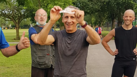 Adrian Davison led the charge for Barking Road Runners as he won race number five in the Handicap summer 5km series.