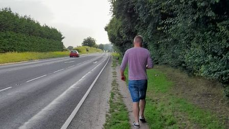 Concerns have been raised about the lack of a footpath on the road to Rendlesham Mews