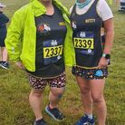 Ewa Szczygielska and Janette Smith in Sandringham for Three Counties Running Club.