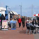 People out and about at Great Yarmouth seafront as Covid restrictions are eased. Picture: DENISE BRA