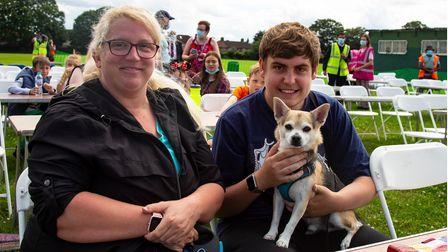 Emma and Jamie Wilson with Rufus at Barking and Dagenham's Thank you Roadshow on Sunday at Valence P