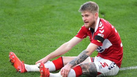 Middlesbrough's Hayden Coulson during the Sky Bet Championship match at the Riverside Stadium, Middl