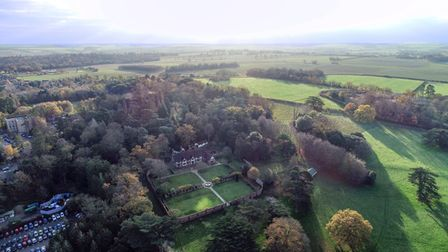 Aerial view of Hardwick Manor, where the West Suffolk Hospital could go