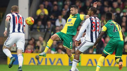 Russell Martin of Norwich in action during the Barclays Premier League match at Carrow Road, Norwich