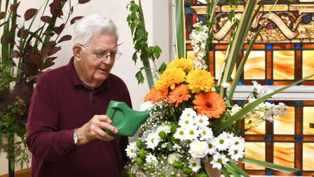 Trinity Methodist Church in Wisbech held a special flower festival as part of a national 'thank you' day.
