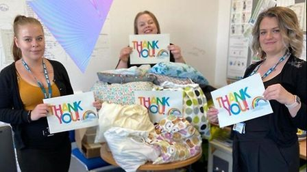Hospitals say they havebeen overwhelmed with support from across the community.