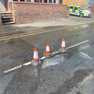 Westgate Street in Bury St Edmunds has been closed by police