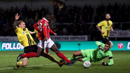 Nottingham Forest's Arvin Appiah scores his side's second goal of the game during the Carabao Cup, F