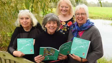 Harleston and Waveney Art Trail Collective launching a new book called Waveney Reflections.Christina