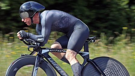 Darran Bennett in action for Ely & District Cycling Club