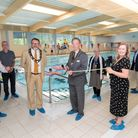 Councillors and Abbeycroft Leisure representatives attended the grand opening of the new Hadleigh swimming pool