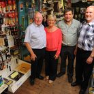 John and Julie Maskell (L to R) who own Larter and Ford in Diss with Carl Edwards and Julian Mason w