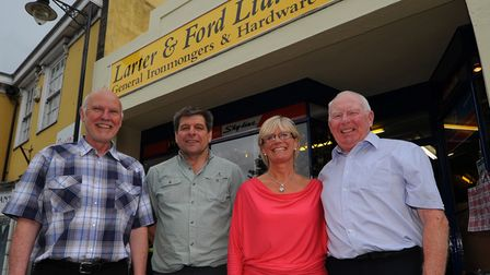Julian Mason (l to R) and Carl Edwards who have bought the Larter and Ford store in Diss from Julie