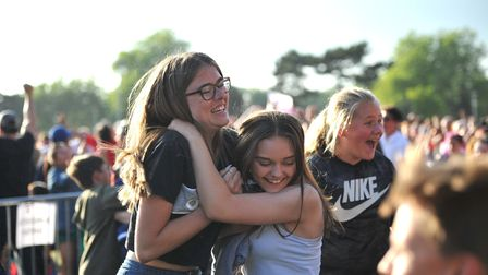 The crowd go wild at Portman Road as England score in the first half Picture: SARAH LUCY BROWN
