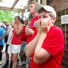 Fans at The Bull pub, Hellesdon struggle to watch as England lose 4-1 to Germany and exit the 2010 World Cup