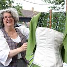 Kate creates vintage clothing out of recycled materials such as old tablecloths, curtains and even gazebos