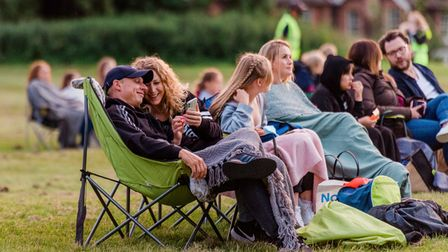 The sun sets over The Sandringham Estate as cinema goers watch an open-air screening of Grease.