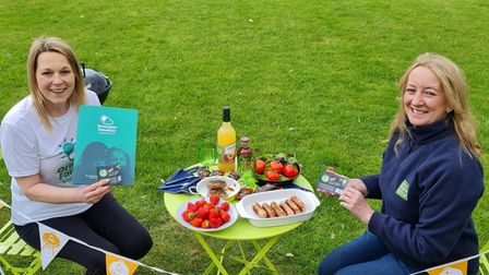 Launching the A Brighter BBQ campaign, Vicky Matthews of Ormiston Families, and Lynn Warner of East of England Co-op.