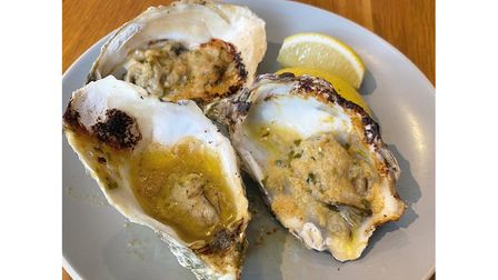Grilled Mersea rocks served with miso butter