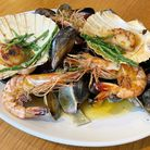 The Thorn in Mistley's roasted mixed shellfish plate