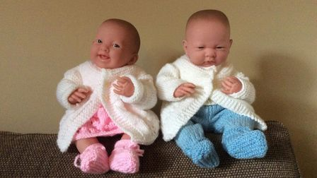 Dementia babies created by the Dereham Community Crafters